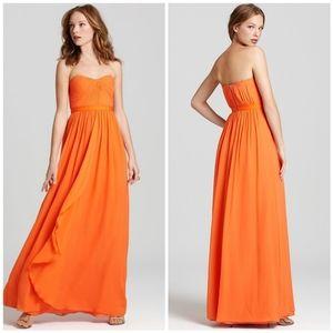 BCBGMaxAzria   Amber Cascade Strapless Dress